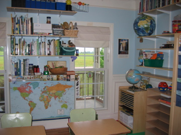 The Learning Room set up in eager anticipation…