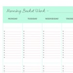 Morning Basket planning grid mint