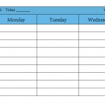 planner table (blue) image