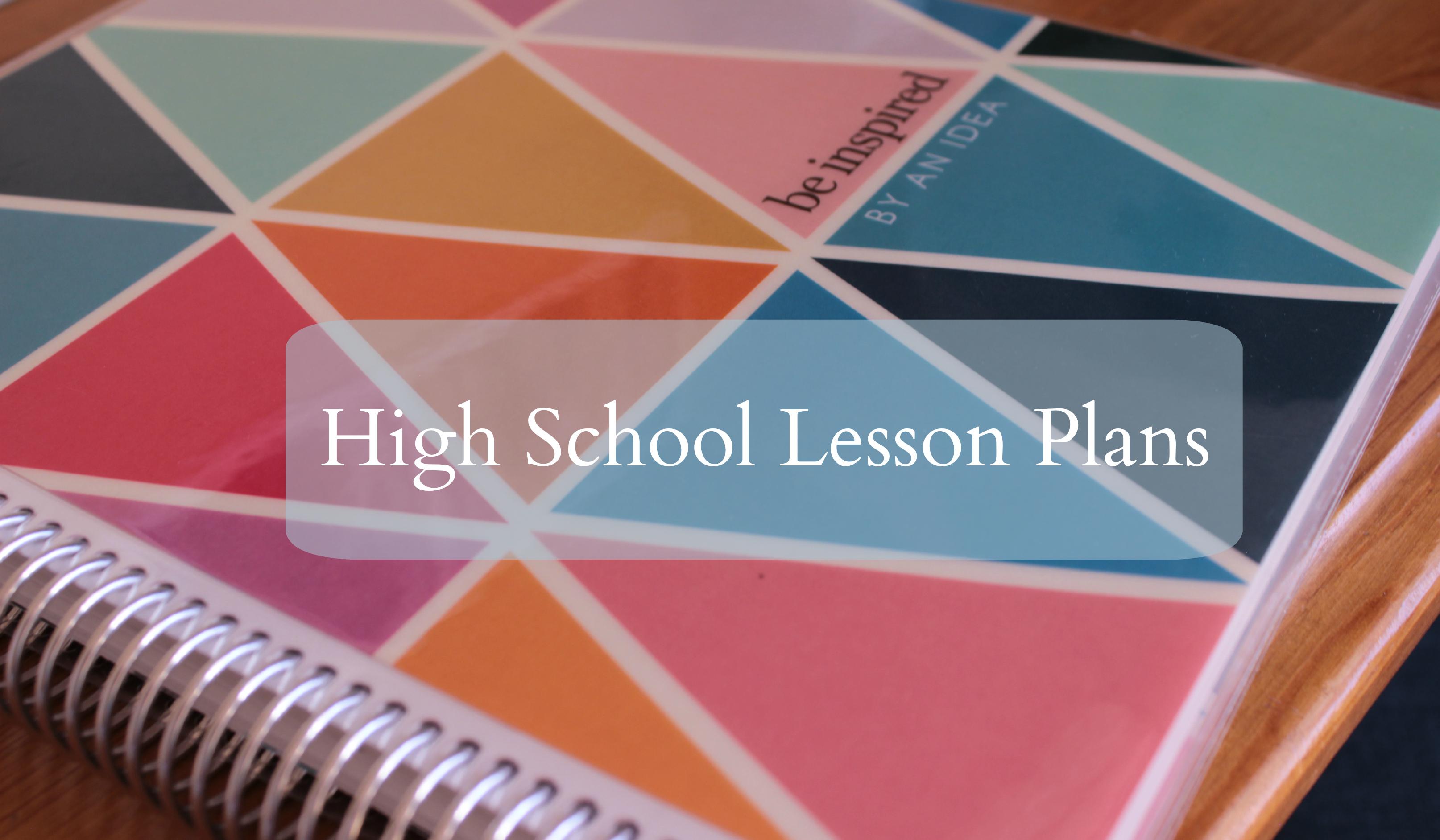 highschoollessonplans