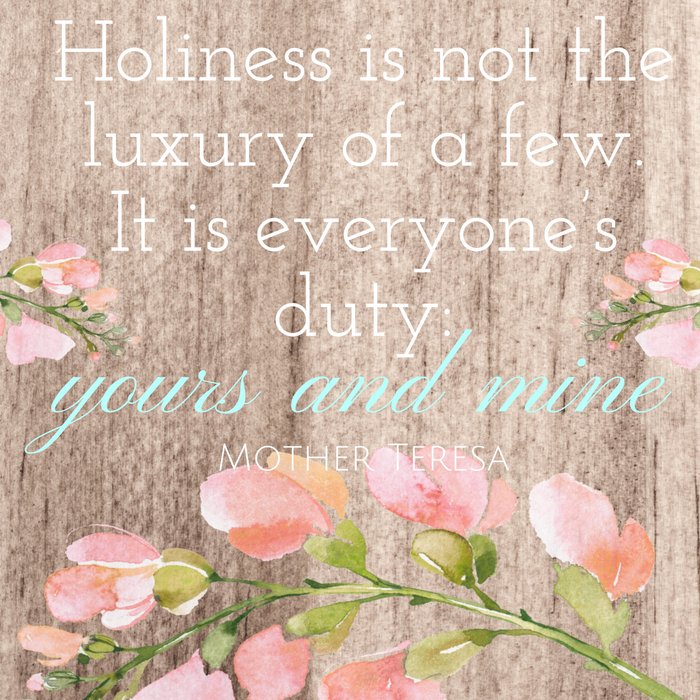 Holiness is not the luxury of a few. It is everyone's duty-