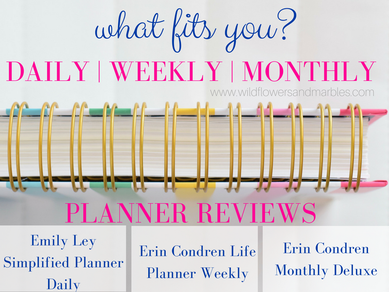 photograph about Simplified Planner Reviews named Planner Overview Simplified Planner and Erin Condren Everyday