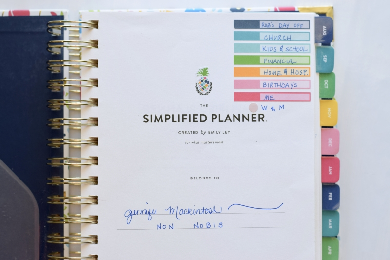 photo about Simplified Planner Emily Ley titled Simplified Planner 2018-2019 Planner Overview How I Application