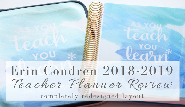 Erin Condren 2018-2019 Teacher Lesson Planner Review – Brand New Layout