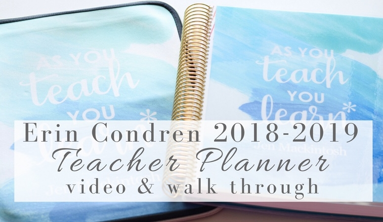 Erin Condren Teacher Planner 2018 – Video & Walk Through