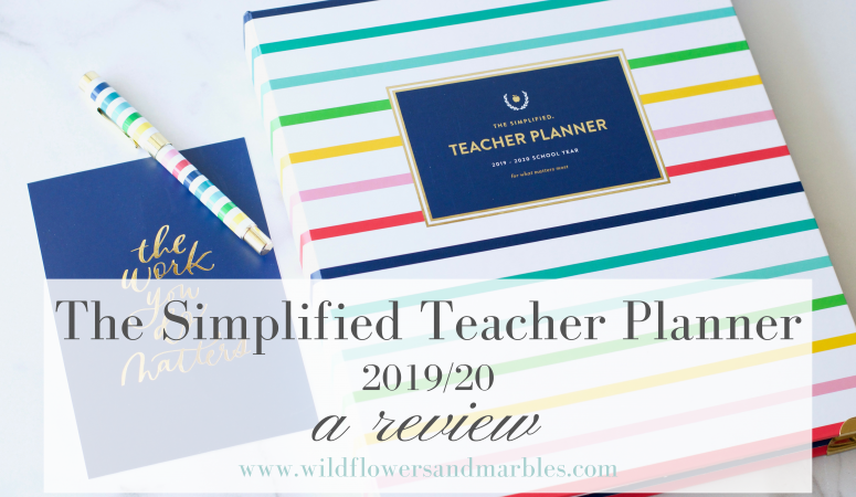 The Simplified Teacher Planner | A Review