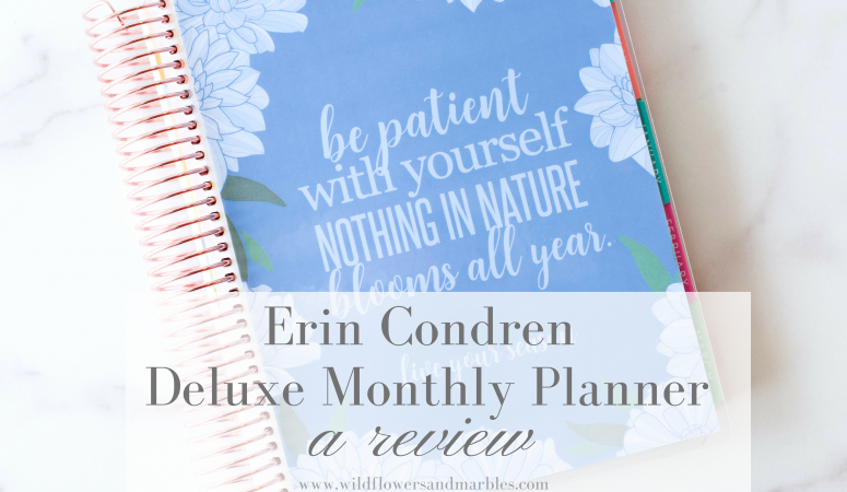 Erin Condren | Deluxe Monthly Planner Review