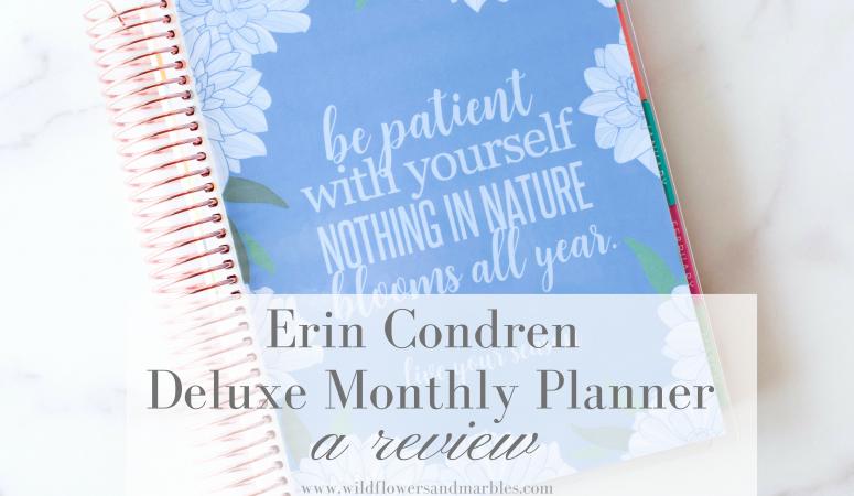 Erin Condren | Deluxe Monthly Planner Review