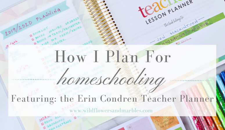 How I Plan For Homeschooling
