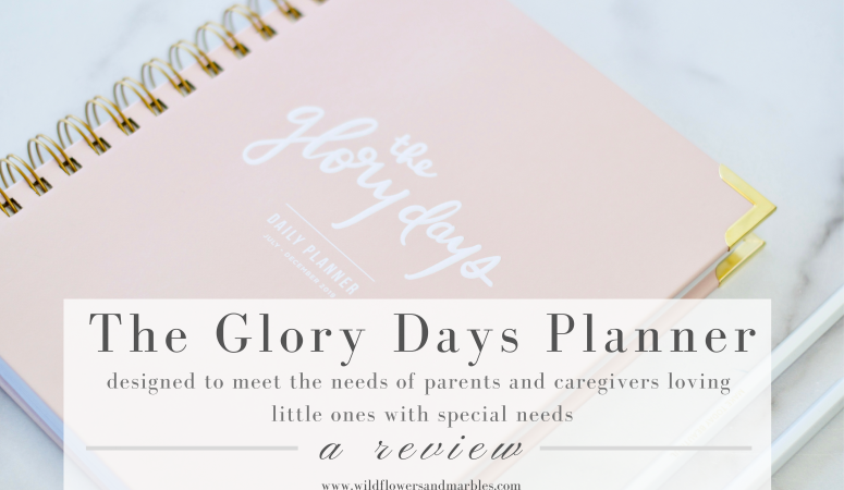 The Glory Days Planner | Special Needs