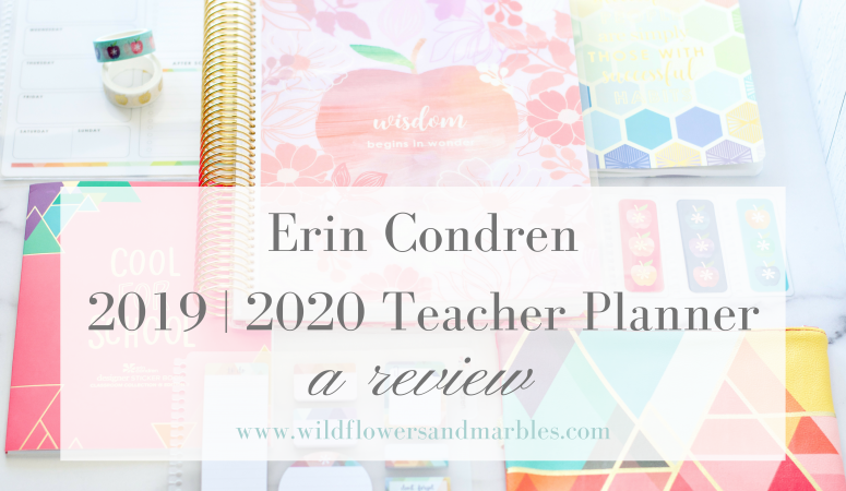 Erin Condren Teacher Planner 2019/2020 | A Review