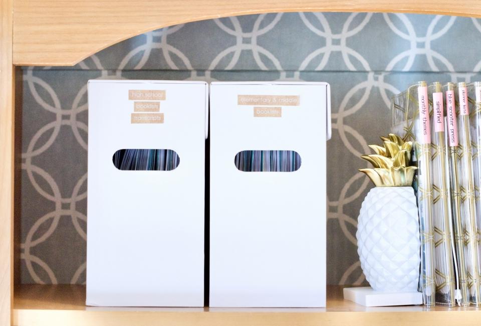 See Jane Work, file box, organization