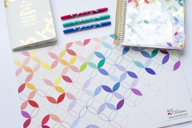 Calendars Erin Condren Designer Washi Tape Duo Metallic /& Colorful Asterisks Agendas Decorative Adhesive Tape for Customizing Notebooks 16 Feet Each 2 Rolls and More